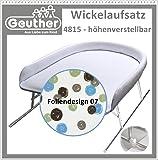 Geuther 4815 09 Wickelaufsatz für Badewannen, höhenverstellbar, mehrfarbig