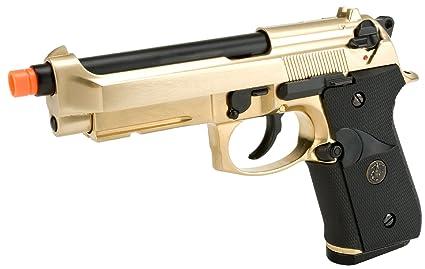 Amazon com : Evike - WE-USA NG3 Golden M9 Railed Heavy