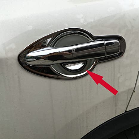 Generic ajuste para Nissan Qashqai 2014 – 2018 mango cromado ABS Puerta Tazón cover Trim Mic