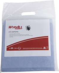 Wypall High Absorbent Reusable Wiping Cloth, 70 x 10 x 10 Inches, Pack of 50, Blue, 60012 by Kimberly-Clark