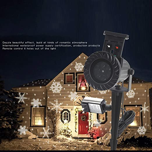 Led de Navidad Al Aire Libre 12 Patrón Lámpara de Proyector de ...