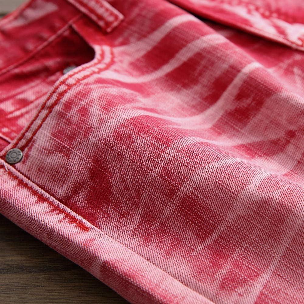 TTMall Jeans Elasticizzati Uomo Pantaloni Jeans Slim Fit Denim Pants,Maschi di Cotone Pantaloni Dritti Tendenza Dritti Uomo Vita Bassa Jeans Straight Slim Fit,Multicolore