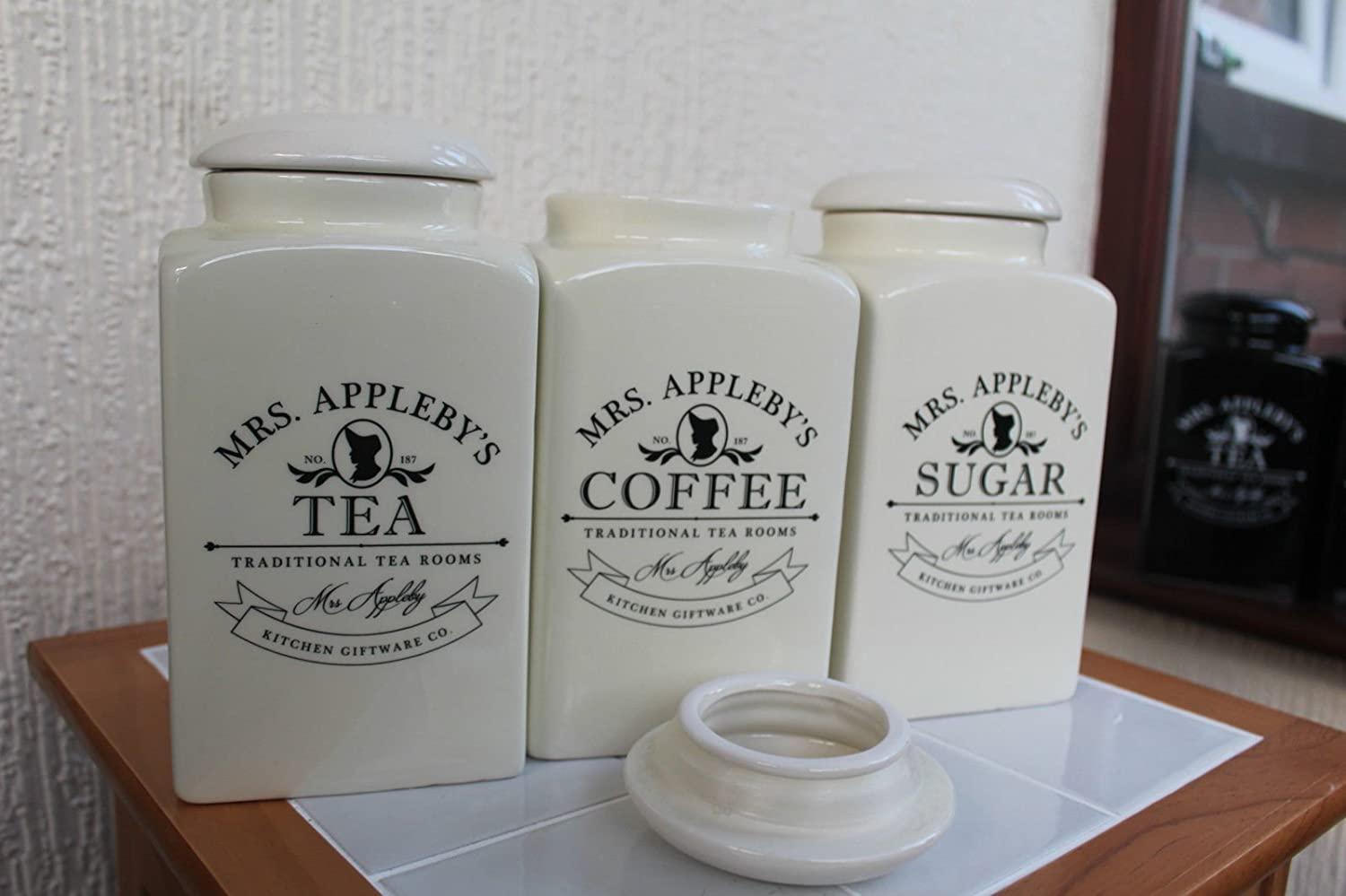 Preferred Tea Coffee Sugar Canisters - Coffee Drinker GQ09