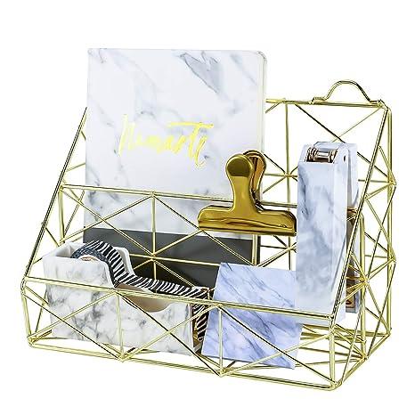 Amazon.com: Simmer – Organizador de archivos dorado de ...