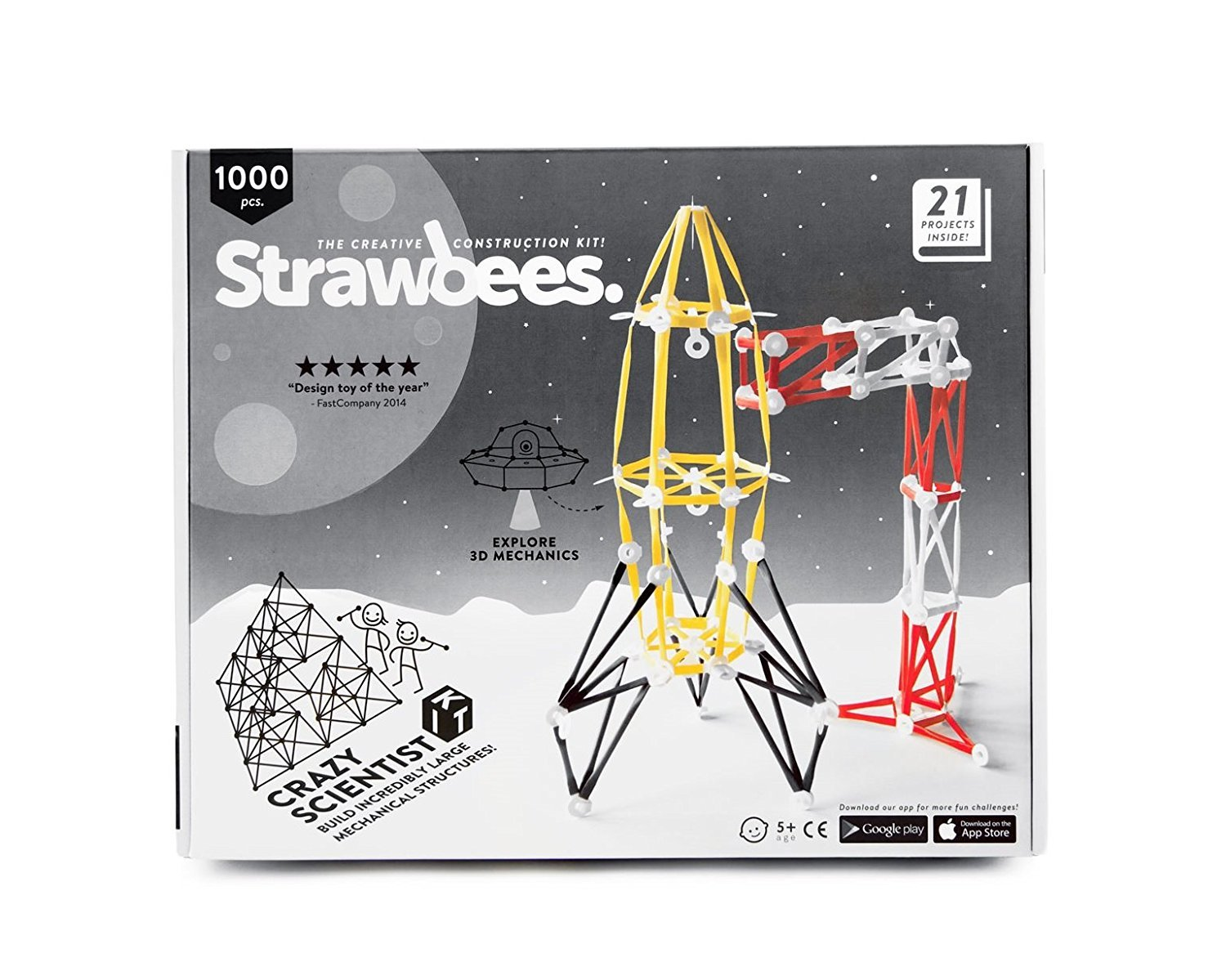 Strawbees Crazy Scientist Builder Kit - 200 Straws and 800 Connectors Set, Educational & Creative Building Toy, Tinkering & STEM Learning, Suitable for Children 5 Years & Up Review