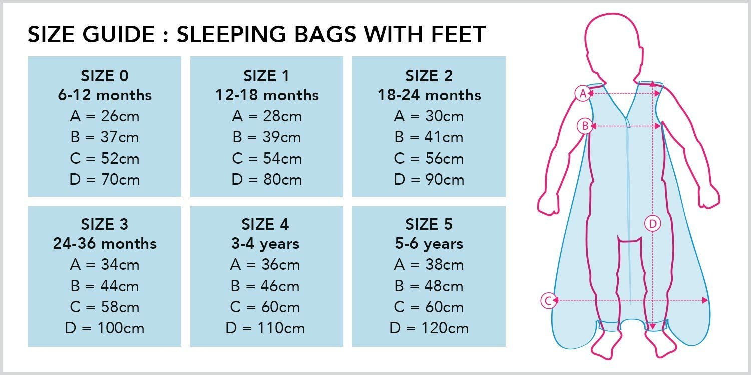 Forest Friends 3-4 years//110cm Slumbersac Standard Sleeping Bag with Feet 2.5 Tog