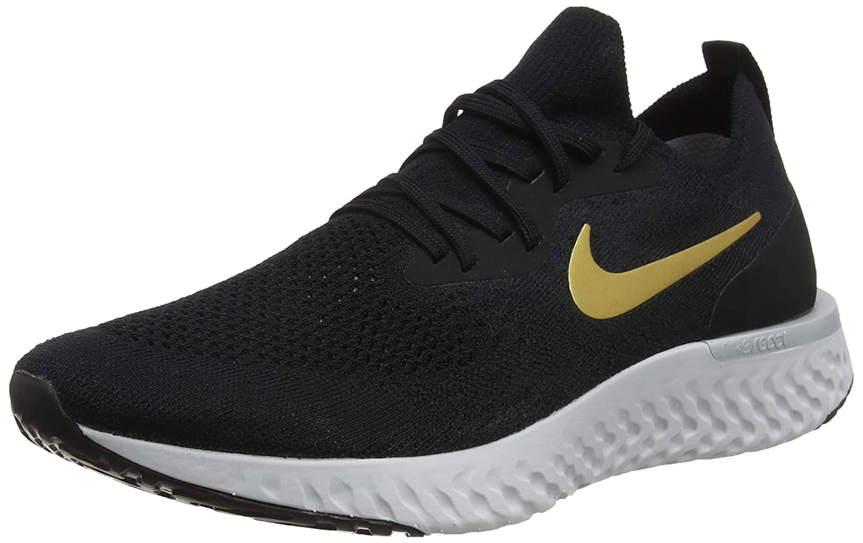 10d9953f40a Nike WMNS Epic React Flyknit [AQ0070-013] Women Running Shoes Black/Gold/US  5.5
