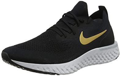 933baaac1b96 Nike WMNS Epic React Flyknit  AQ0070-013  Women Running Shoes Black Gold