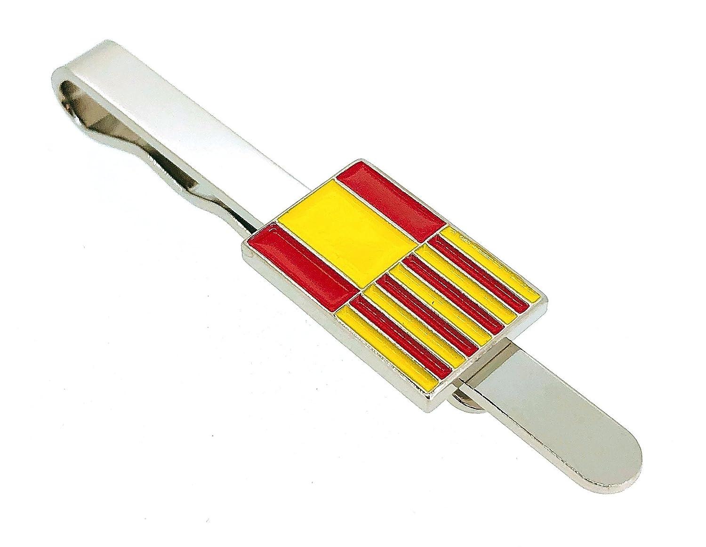 Gemelolandia Pasador de Corbata de la Bandera Cataluña y España ...
