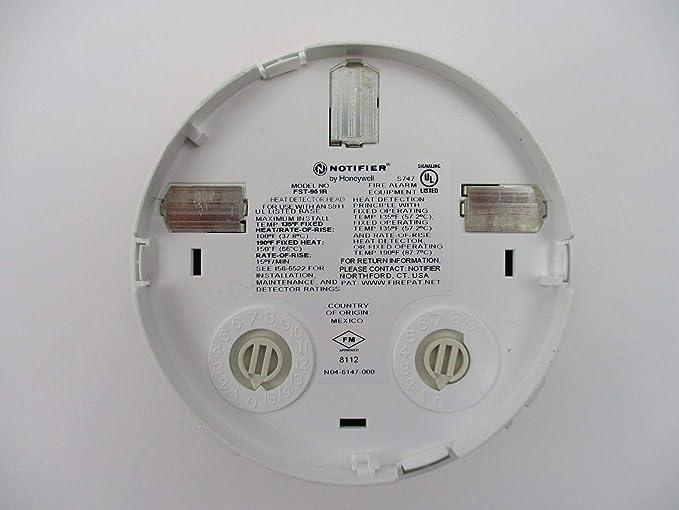 Notifier FST-951R - Sensor de Temperatura de elevación con Cabezal térmico, Color Blanco: Amazon.es: Electrónica