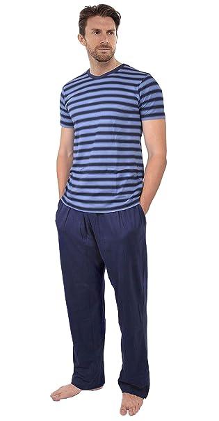 Insignia Pijamas para Hombre Set Top Manga Corta & Largo Pantalones De Chándal Verano (1