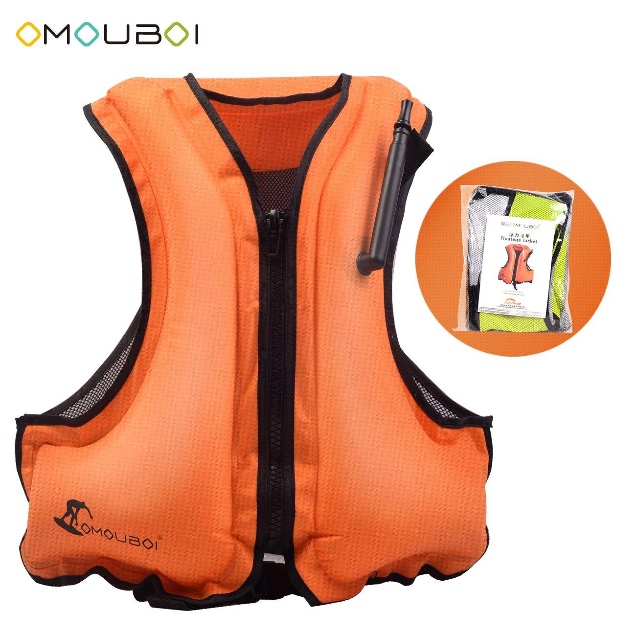 OMOUBOI シュノーケルベスト インフレータブル ライフ 水泳ベスト シュノーケリング用   B07FLP4H1F