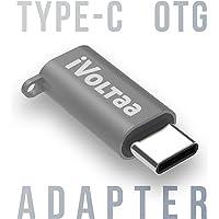 iVoltaa Micro USB to Type C OTG Adapter - Space Grey