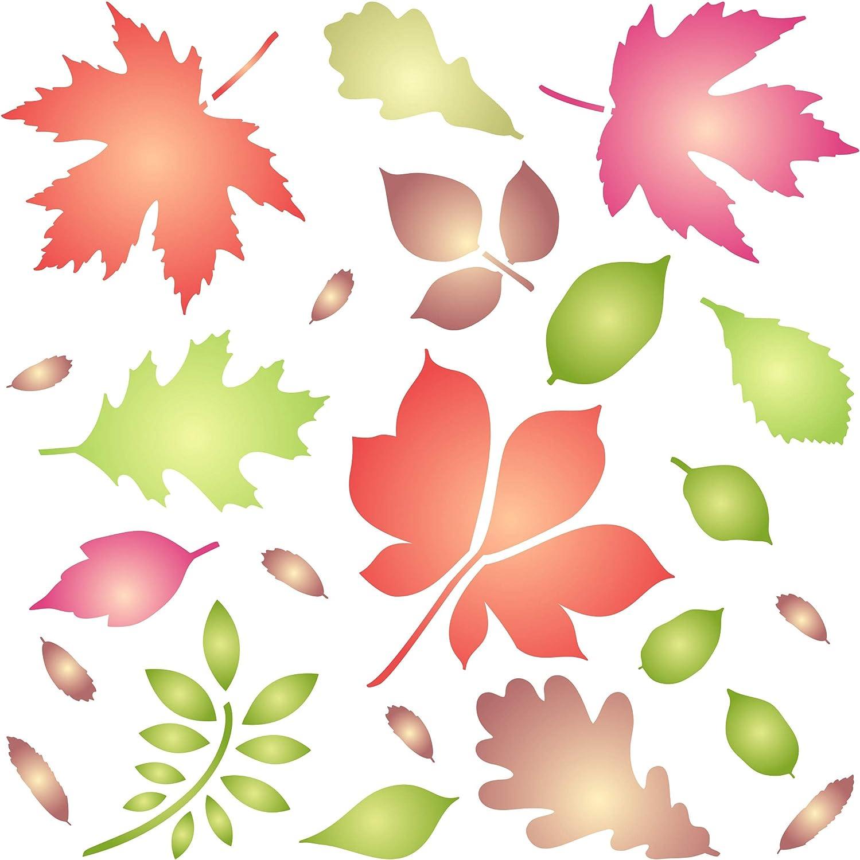 - Amazon.com: Leaves Stencil - 10 X 10 Inch - Reusable Autumn Fall