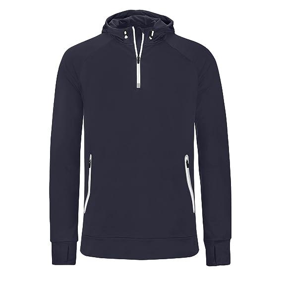 b8bf22224bc Proact Mens Hooded Zip Neck Sweatshirt  Amazon.co.uk  Clothing