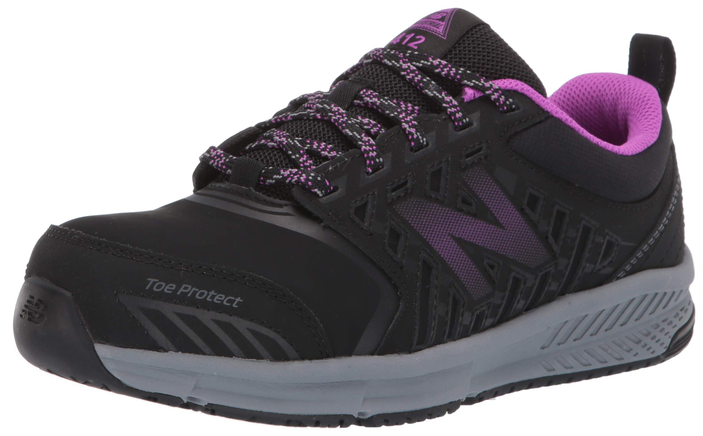 New Balance Women's 412v1 Work Industrial Shoe, Black/Purple, 9 D US by New Balance