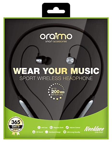 e7e756533ac Oraimo Necklace Wireless Headphone with Magnetic Buds: Amazon.in:  Electronics