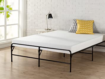 zinus 14 inch bifold platform bed frame folding mattress foundation strong steel support
