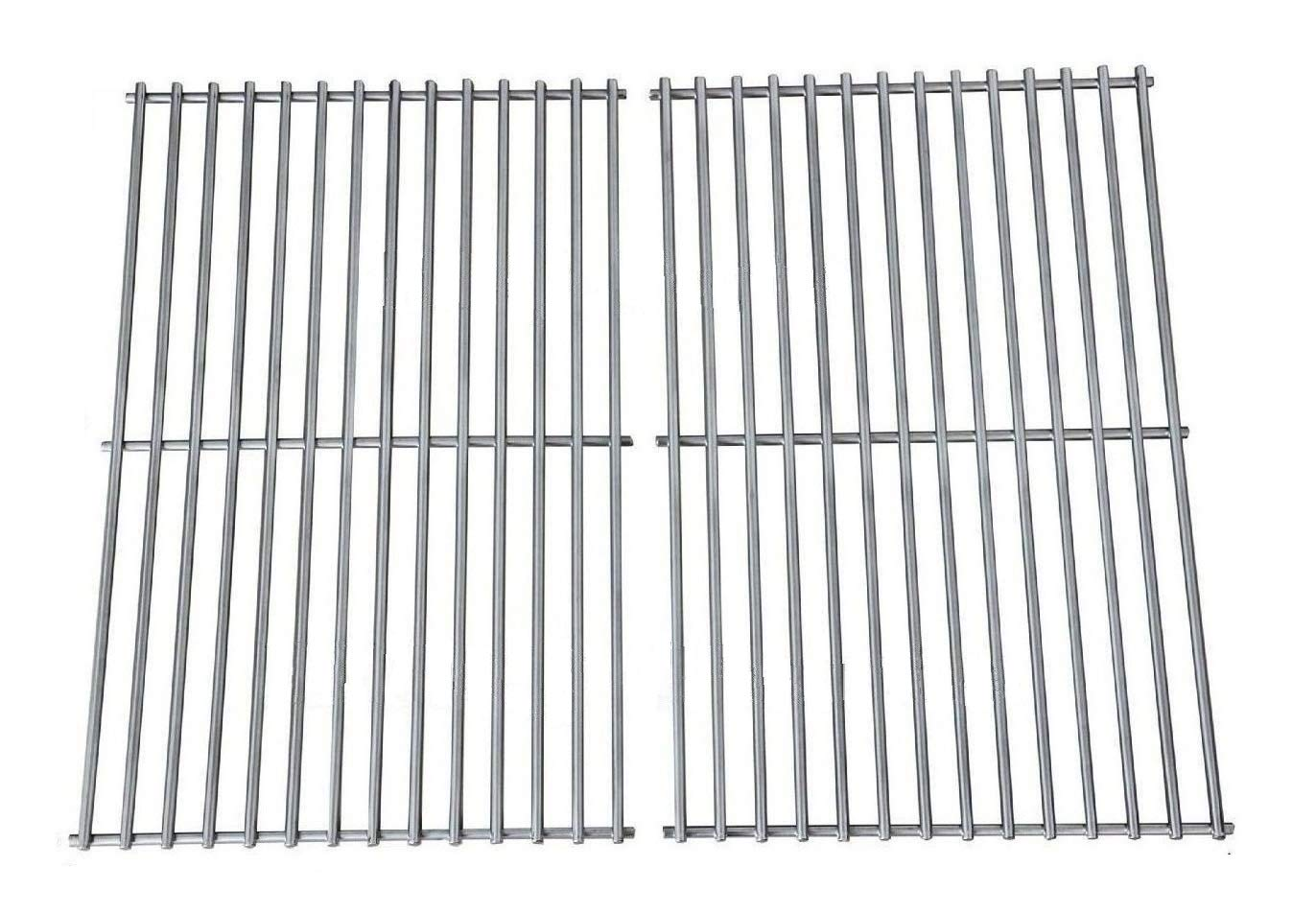 Hongso Grill Grates, Durable 304 Stainless Steel Solid Rod, 19 1/4 inch Cooking Grid Grates Replacement for Turbo, Charmglow Gas Grill (2 Pieces, SCS612)