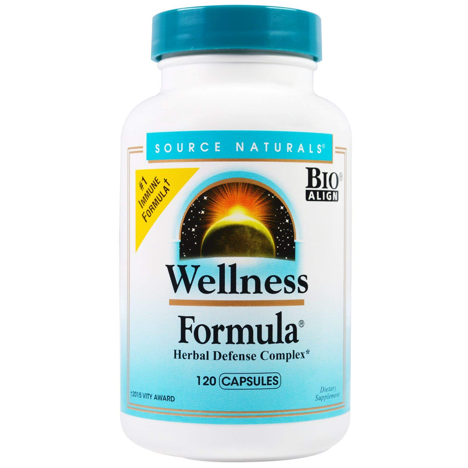Source Naturals Wellness Formula Bio-Aligned Supplement – Herbal Defense Complex, Immune System Support & Immunity Booster – 120 Capsules