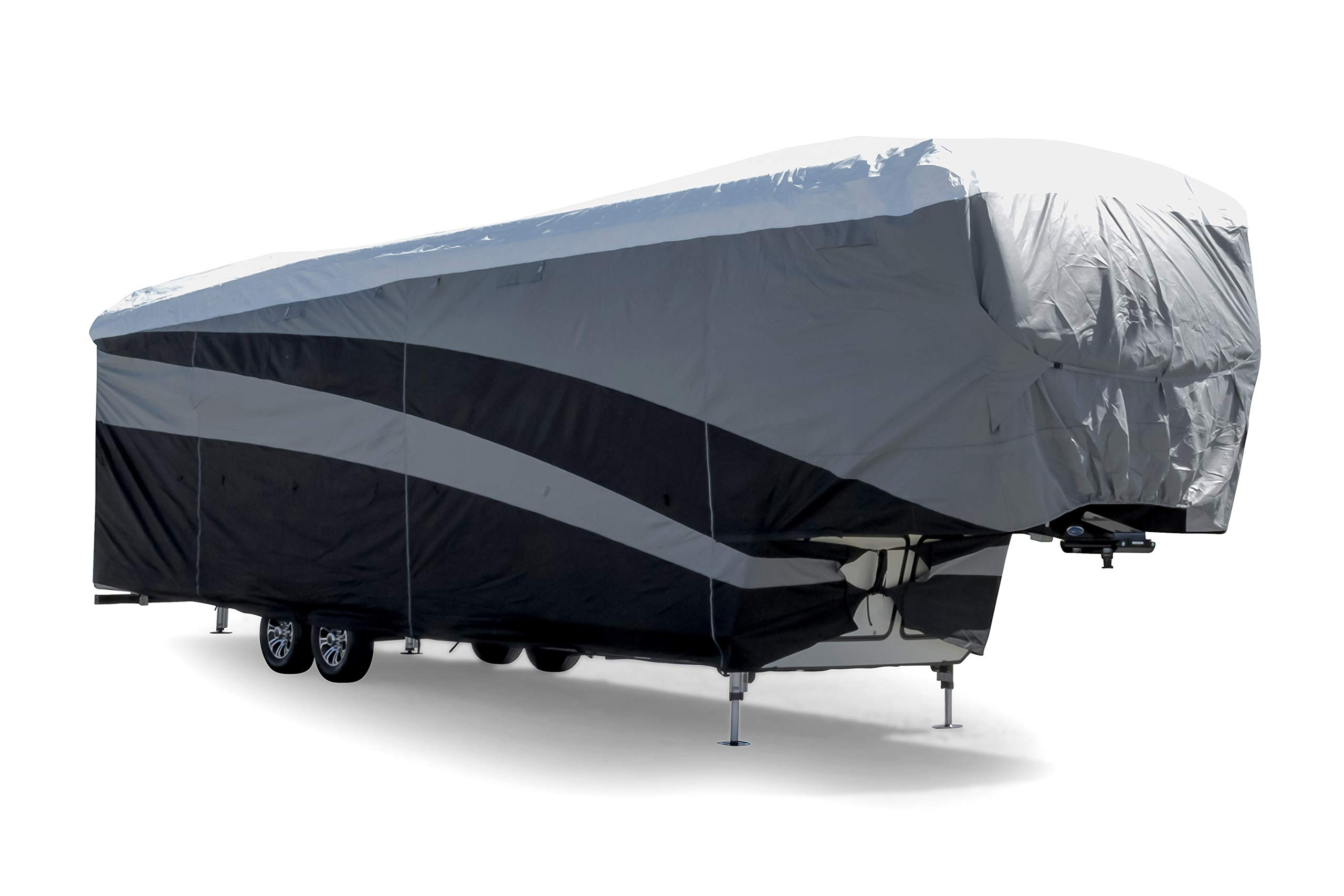 Camco ULTRAGuard Supreme RV Cover-Extremely Durable Design Fits Fifth Wheel Trailers 34' -37', Weatherproof with UV Protection and Dupont Tyvek Top (56150) by Camco (Image #5)