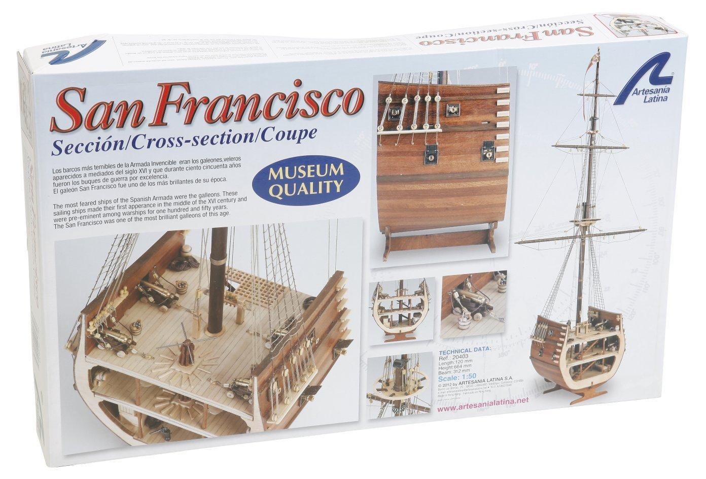 Artesania Latina, S.A. 1 50 San Fransisco II Cross Section Ship Kit, LAT20403