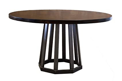 Amazon.com - Rustic Industrial Round Pedestal Table (60 ...