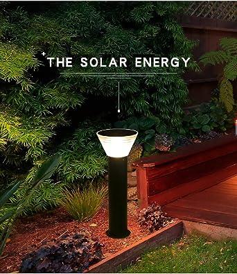 Lámpara solar para exteriores resistente al agua y a la intemperie, lámpara de techo para jardín, villa para el hogar, lámpara LED para exteriores: Amazon.es: Iluminación