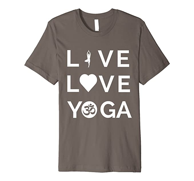 Amazon Live Love Yoga Shirt Hindu Om Symbol Yogi Quote T