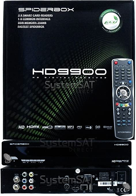 SPIDERBOX 9900 HD 1CA USB PVR LAN SATELLITE RECEIVER - SYSTEMSAT