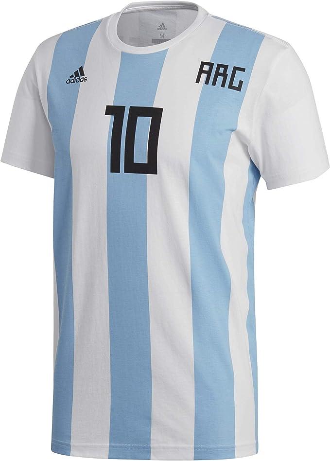 adidas Messi NN - Camiseta Argentina Messi, Hombre, Blanco(Blanco): Amazon.es: Deportes y aire libre