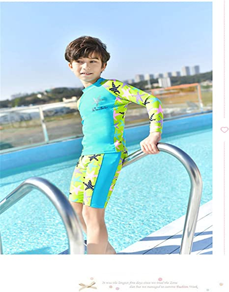 Amazon.com: BABIFIS Two-Pieces Boys Short Sleeve Swimsuits Swimwear Water  Sports Clothes Quick-Dry Beachwear Anti-UV Suit A L: Home & Kitchen