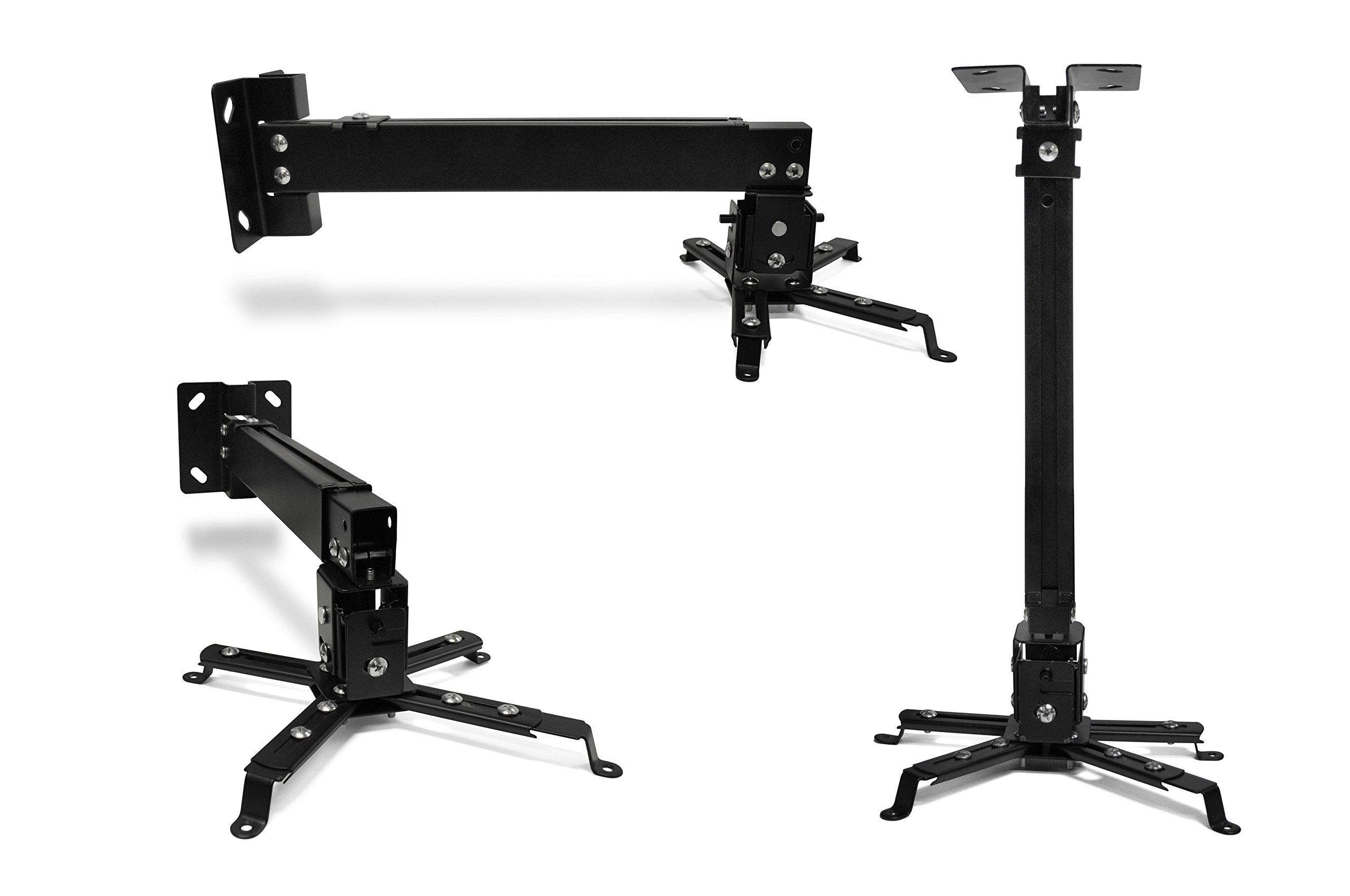 Universal Home Theater Projector Ceiling Mount with Adjustable Tilt and Swivel Arm (P-MOUNT-BL)