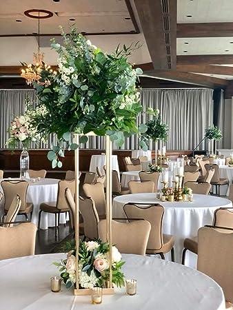Amazon.com & Amazon.com: EVERBON Pack of 2 Wedding Flower Vase Metal ...