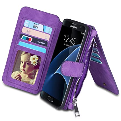 samsung galaxy s7 case wallet purple