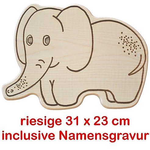 Schneidebrett clipart  Frühstücksbrett Holz Schneidebrett Riesen - Elefant Holzbrett mit ...