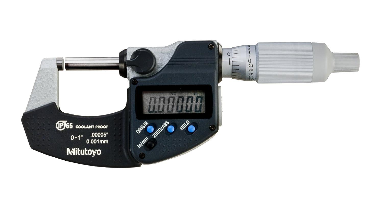 "293-340 Coolant Proof Micrometers Range 0-1/"" Accuracy ±.00005"""