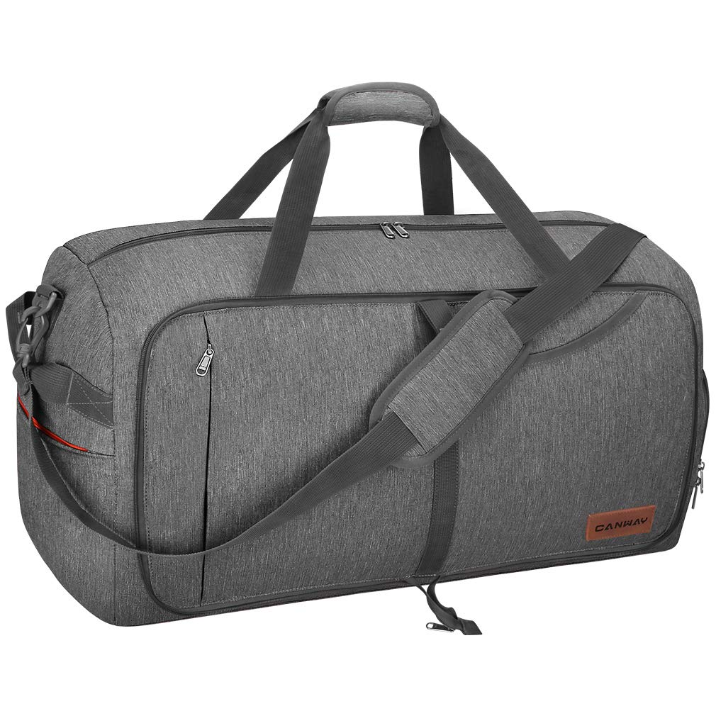 Canway 65L Travel Duffel Bag, Foldable Weekender Bag with Shoes Compartment for Men Women Water-proof & Tear Resistant by CANWAY