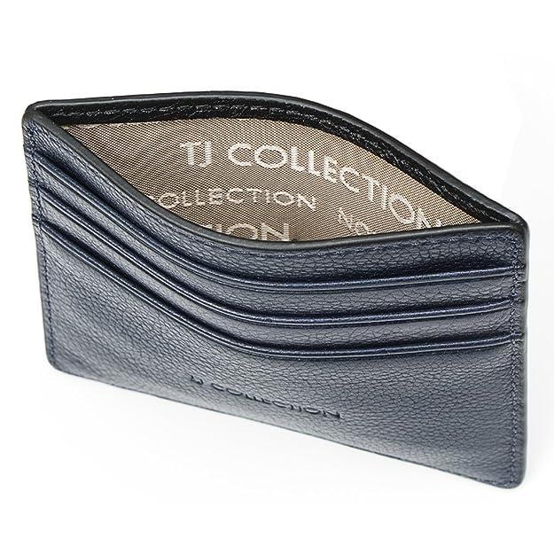 TJ Collection - Tarjetero Unisex adulto Navy, Black: Amazon ...