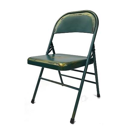 Fine Mod Imports FMI10294 TURQUOISE Turquoise Antique Folding Chair,  Turquoise