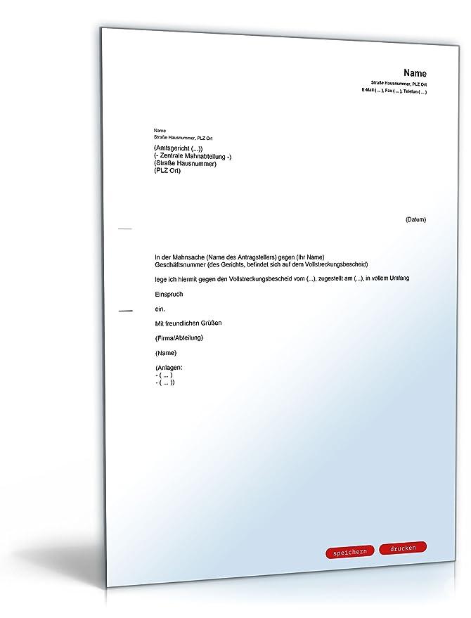 einspruch vollstreckungsbescheid pdf download amazonde software - Einspruch Gegen Vollstreckungsbescheid Muster