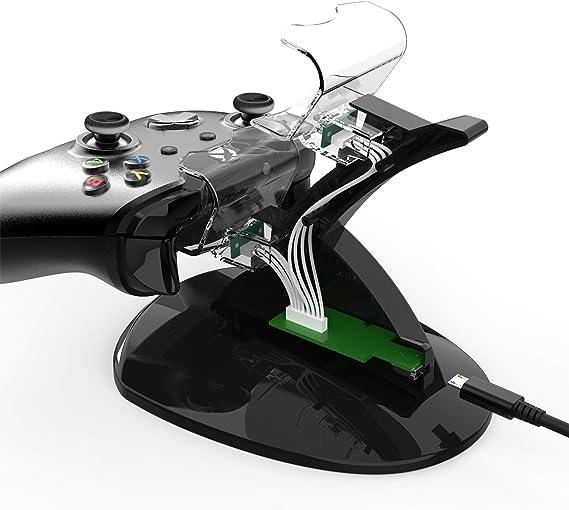 Amazon.com: Cargador de mando Xbox One, estación de carga ...