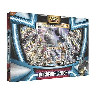 Pokemon TCG: Lucario Gx Box - 4 Booster Pack + A Foil Promo Card: Toys & Games