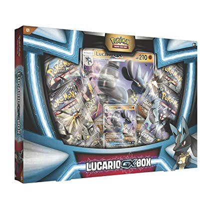 5ab8850267efc2 Amazon.com: Pokemon TCG: Lucario Gx Box - 4 Booster Pack + A Foil Promo  Card: Toys & Games