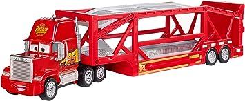 Oferta amazon: Disney Cars 3 Mack camión mundo de aventuras, coche transportador de juguetes (Mattel FLG70)
