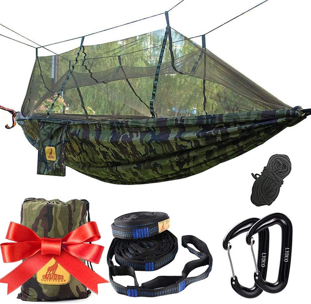 Reisen Strand Camping H/ängematte mit Moskitonetz 250*120cm//Armeegr/ün Uong 1-2 Personen Tragbare Leichte Pop-Up Fallschirm H/ängematten f/ür Outdoor Backpacking oder Camping