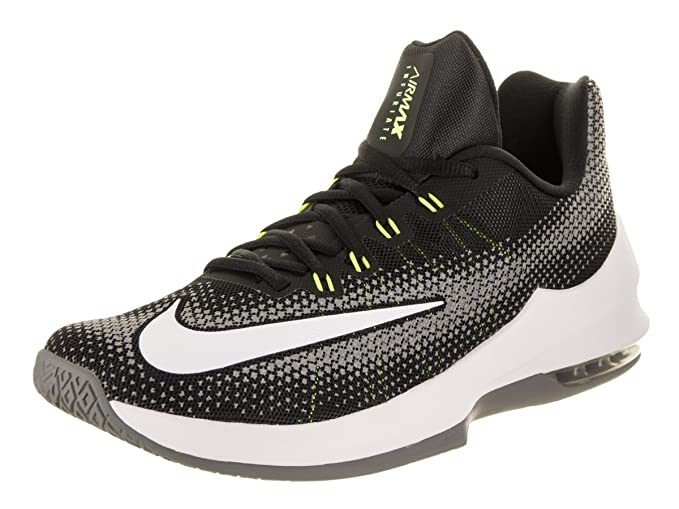 half off 5dc0f bef36 Image Unavailable. Image not available for. Color  NIKE Men s Air Max  Infuriate Low Black White Volt Cool Grey Basketball