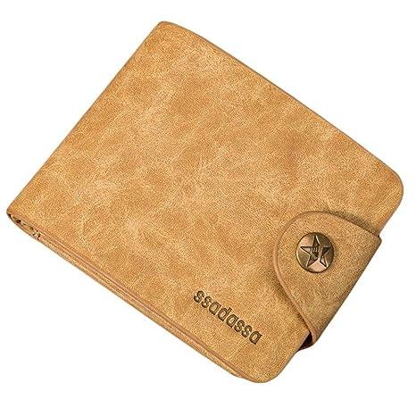 YJYDADA - Monedero de piel para hombre: Amazon.es: Hogar