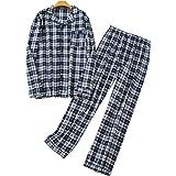 Nuosha-BABY Mens Flannel Pajamas Set 100%...