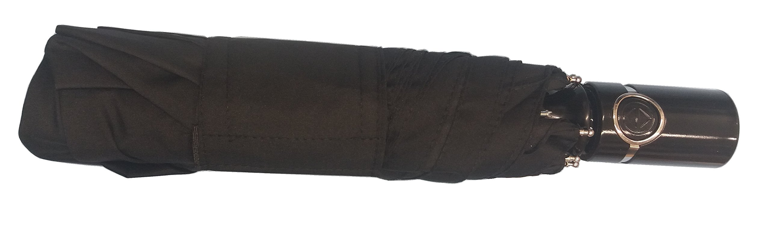 Totes Auto Open & Auto Close Umbrella SunGuard UPF 50+ Large Coverage 43'' arc Black